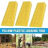 jtxqy 1/3 cuñas de tala de árboles, división de madera de 5/8 pulgadas, duraderas para tronzar caída, corte de motosierras