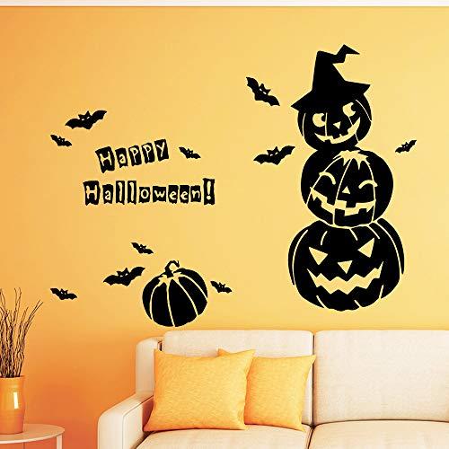 mlpnko Kreative Halloween Selbstklebende feuchtigkeitsbeständige Vinyl Wasseraufkleber Wandkunst für Kinderzimmer,CJX13143-45x57cm