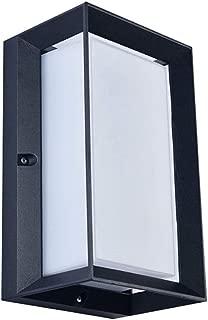 WPOLED LED IP65 Waterproof Wall Lamp 12W White Indoor Outdoor Diamond Bulkhead Aluminum Metal Sconce Matte Black Indoor Outdoo Acrylic Wall Sconce Up Down Light (Color : 3000K Warm Light)