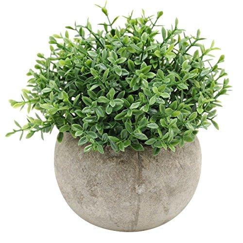 WINOMO Mini plantes artificielles herbe plastique décoratif en pot pour la décoration du jardin de la maison