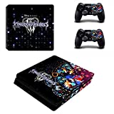 PS4 Slim Console Skin and 2 Dualshock 4 PS4 Controller Skin Cover Protective Vinyl Decal - Kingdom Hearts 3 by Mr Wonderful Skin