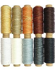 Healifty 10 hilos de cera para coser manualidades, cuerda encerada, herramienta de costura