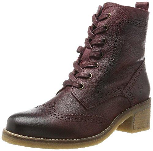 Be Natural Damen 25200 Combat Boots, Rot (Bordeaux), 40 EU