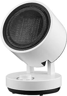 QINEOR Ventilador Calefactor Mudo Oscilante De PTC Cerámica, 750W / 1500W, Protección contra Sobrecalentamiento