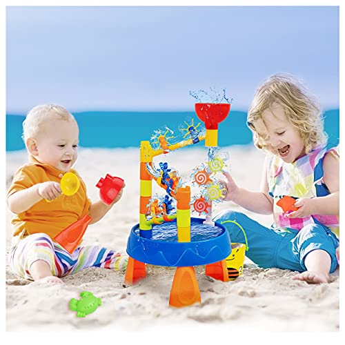 Starpony Firmament Water Table for Toddlers, Water Table Sand Table Kids Water Table Beach Toy Outdoor Indoor Activity Table with Accessories and Tools for Kids Boys Girls