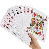 GOODS+GADGETS Jumbo Pokerkarten in XXL - Riesige Poker Spielkarten Gigantisches Kartenspiel mit 52...