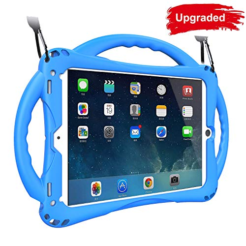 New iPad 2018/2017 9.7' Case/iPad Air1/2 Case, TopEsct Shockproof Silicone Handle Stand Case Cover For Apple New iPad 9.7inch(2017&2018 Version), iPad Air, iPad Air 2 and iPad Pro 9.7(Blue)