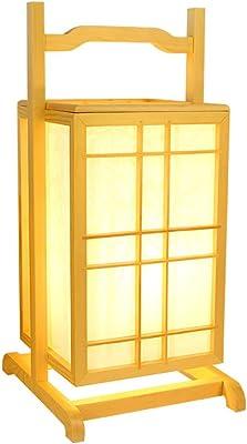 Lámpara de escritorio simple de madera maciza de estilo japonés ...