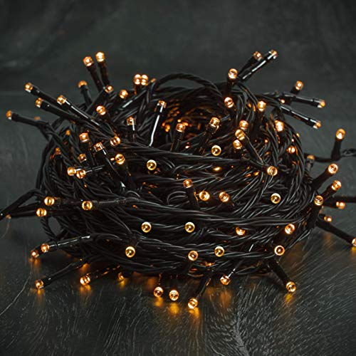 LJLNION 300 LED Indoor Fairy Halloween String Lights, 8 Lighting Modes Light, Plug in String Waterproof Mini Lights for Ou...