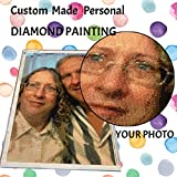 Haz tu propia pintura de diamante personalizada por números para adultos principiantes, kit de arte personalizado con diamantes