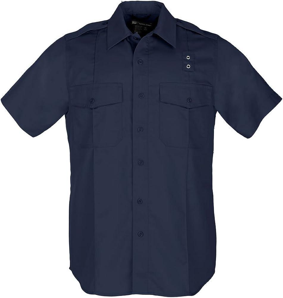 5.11 Tactical Twill PDU Class A Short Sleeve Button Down Shirt, Teflon Coating, Style 71183