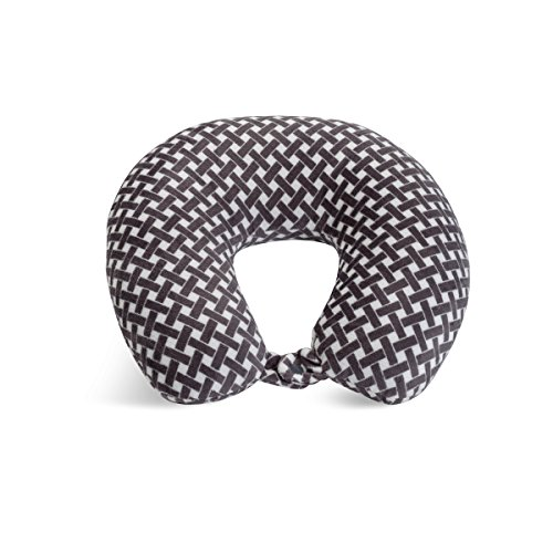 World's Best Feather Soft Microfiber Neck Pillow, Charcoal Bamboo