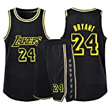 Lakers NuméRo 24 RéTro VêTements De Basket, Gilet De Sport + Short Ensemble Deux PièCes, Adulte Enfant Tenue De Sport VêTement De Tous Les Jours, XXS-5XL,D,M