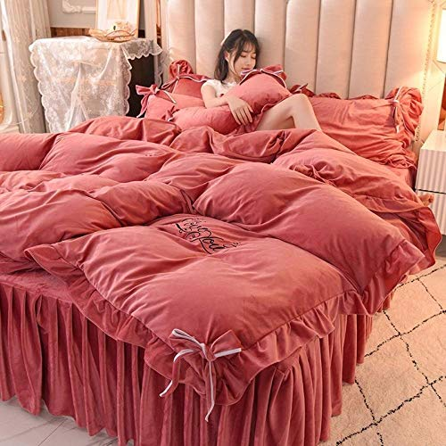 Shinon teddy bear bedding single grey-Winter bedding double-sided plus velvet warm flannel sheet bed sheet duvet cover pillowcase E_2.0 bed (4 pieces)