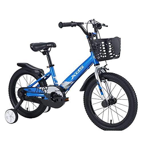 HUAQINEI Bicicleta Freestyle Boy's Girl'S Bike 3 Colores, 14, 16 con estabilizadores y Soporte
