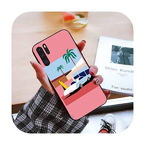 surf surf arte surf chica teléfono caso para Huawei Mate 9 10 20 Pro lite 20x nova 3e P10 más P20 Pro Honor10 lite-a4-para mate 9