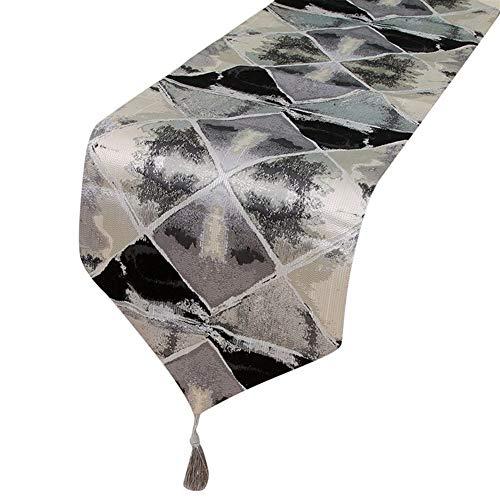 TUANZI Squisito Runner da tavolo Tabla Corredor Mediterráneo Rectangular Mantel de Tinta de representación geométrica Mantel for Hotel Home Decor Mesa per Feste, ristoranti e attività all