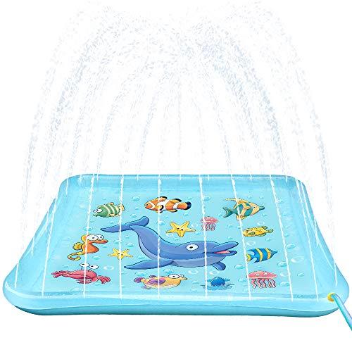 Growsland Splash Pad Sprinkler Toys for Kids - 67' Splash Play Mat Wading Pool...