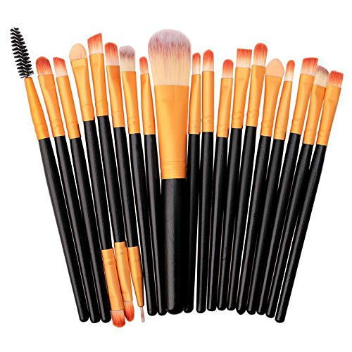 Maquillage Brush Set 20 à 1 poignée en plastique souple Head Eye Foundation Lip multi-fonction Pinceau Outils de maquillage, Maquillage de visage Pinceau (Color : Color2)