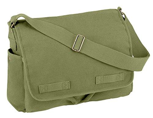 Rothco Vintage Unwashed Canvas Messenger Bag, Olive Drab