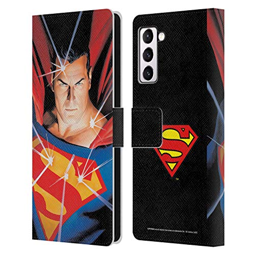 Head Case Designs Officially Licensed Superman DC Comics Alex Ross Mythology Famous Comic Book Covers Leather Book Wallet Case Cover Compatible with Samsung Galaxy S21+ 5G