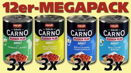 Animonda Megapack Gran Carno Fleisch Plus Mix 1 12 x 400 g Dose - Hundefutter