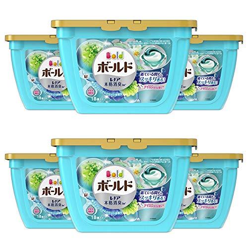 P&G ボールド 洗濯洗剤 ジェルボール3D 爽やかプレミアムクリーンの香り 本体 18個×6
