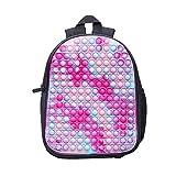 Rainbow Pop School It Backpack with Adjustable Shoulder Strap for Children Pop College Satchel Bag Pop Stationery Bag Purse (Pop Backpack-black2)
