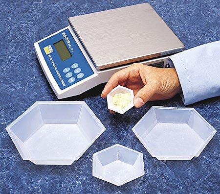 SEOH Plastic Hexagonal Weigh Boats Micro Dish 100pk