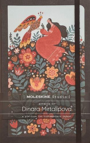 Moleskine - Moleskine Studio Kollektion Notizbuch, Liniertes Papier Notebook, Künstler Dinara Mirtalipova, Hard Cover, Große Größe 13 x 21 cm, 240 Seiten