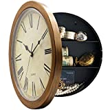 MAGHO 10 Inch Plastic Wall Clock with Hidden Compartment,...