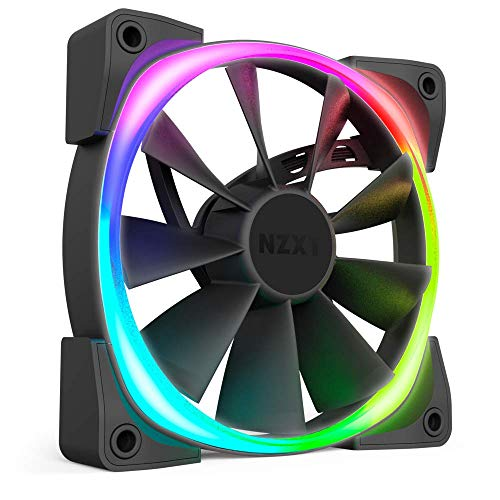 NZXT HF-28120-B1 AER RGB 2 - 120mm - Advanced Lighting Customizations - Winglet Tips - Fluid Dynamic Bearing - LED RGB PWM Fan for Hue 2 - Single (HUE2 Lighting Controller Not Included)
