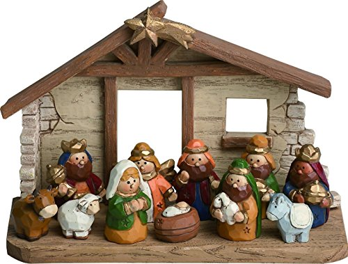 Kids Nativity Scene with 12 Rearrangeable Figurines