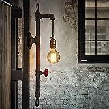 SBOTTON Aparatos de iluminación, Lámpara de Pared de Metal de la tubería de Agua de la tubería del Viento del Viento...