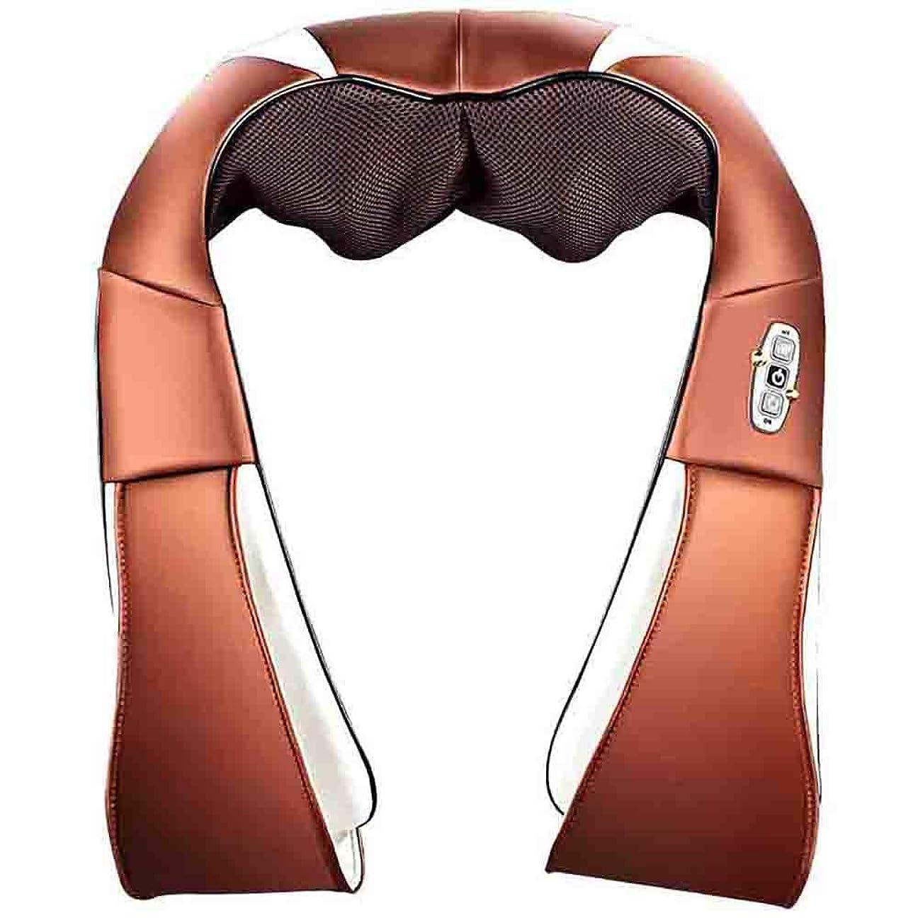危険うがい薬魅力的指圧式の首の肩のマッサージャー、筋肉苦痛救助のための混練の深いティッシュのマッサージの枕と電気家庭用車で調節可能な強度を緩めて下さい