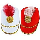 Tigerdoe Marching Band Hat - 2 Pack - Nutcracker Hat - Soldier Hat - Drum Major Hat - Toy Soldier Hat