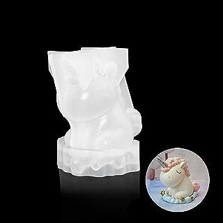 Sherineo Molde de la torta, Forma de unicornio Molde de la vela Molde de yeso