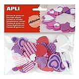 APLI - Bolsa formas EVA adhesiva estampada formas corazón, 40 uds
