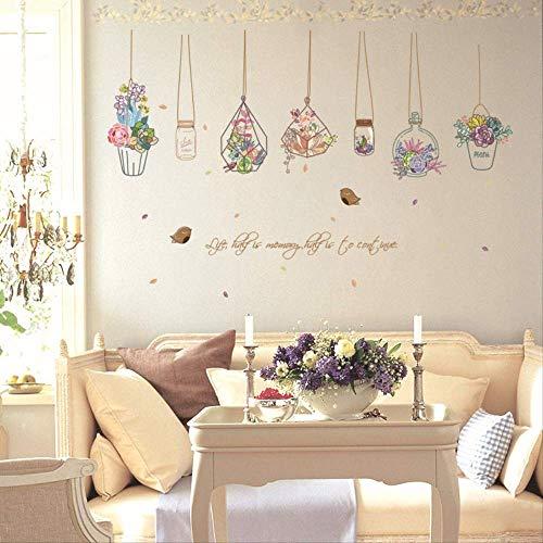 Muursticker hangende flessen-esthetische vaas kan waterdichte wandpasta voor decoratie van de hoofdslaapkamer worden verwijderd