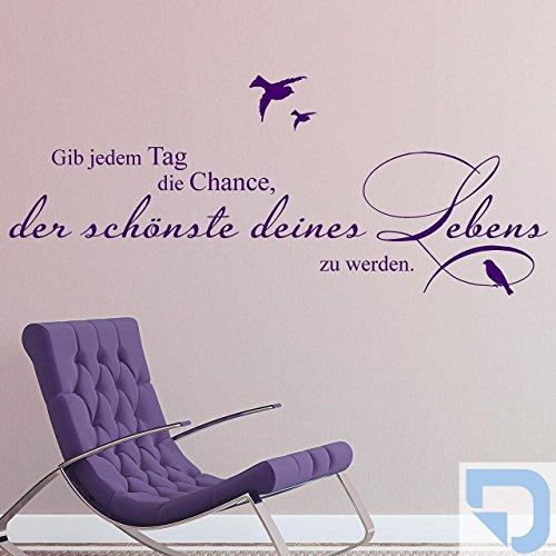 DESIGNSCAPE® Wandtattoo Gib jedem Tag die Chance, der schönste deines Lebens zu werden 140 x 57 cm (Breite x Höhe) pastell-blau DW801092-L-F99