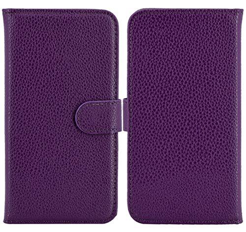 Suncase Favory - Shop Book Style Handy Tasche kompatibel mit Emporia Smart 3 Mini Hülle Etui Schutzcover Kappe Wallet Case in Lila