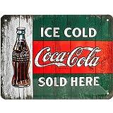 Nostalgic-Art 26174 Coca-Cola – Ice Cold Sold Here – Idée de Cadeau...