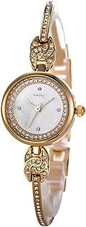Wangyr Creative Alloy Diamond Small Student Watch/Waterproof Steel Bracelet Watch/Fashion Bracelet Watch/Ladies Watch/Unique Fashion Classic Casual Luxury Business Dress (Color : Gold)