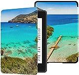 Nueva Cubierta de Tela Kindle Paperwhite Resistente al Agua (10a generación, versión 2018), Hermoso Paisaje Marino en la Caja de la Tableta de la Isla de Mallorca