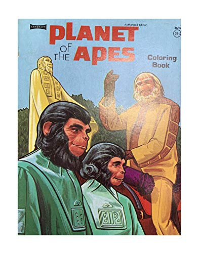 Vintage 1974 Planet Of The Apes Coloring Book Authorized Edition Mint Condition Shop Stock Room Find