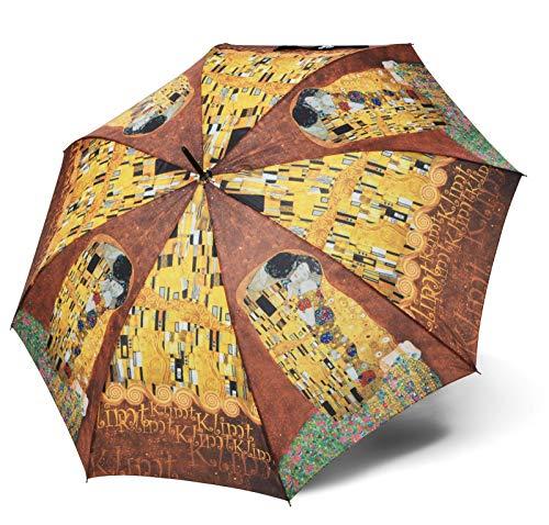 doppler Regenschirm Taschenschirm Gustav Klimt der Kuss Art Collection Auf-Zu Automatik