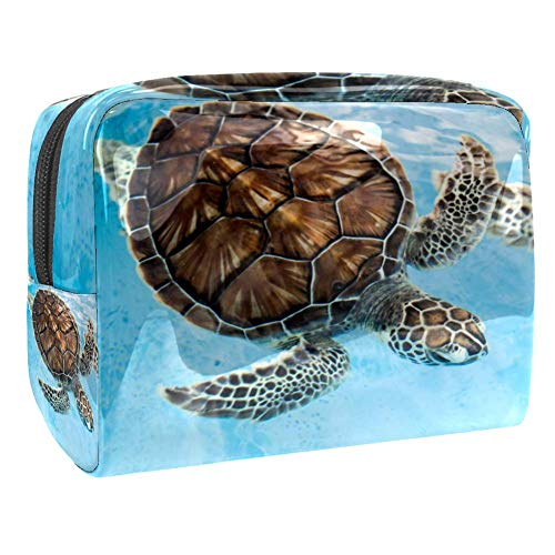 Maquillage Cosmetic Case Multifunction Travel Toiletry Storage Bag Organizer for Women - Brown Sea Turtle