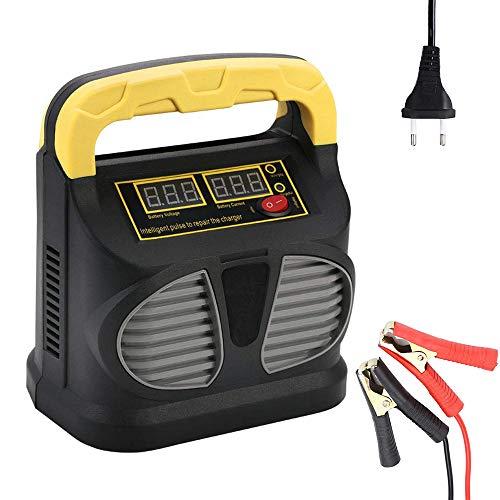 Charger-EJOYDUTY Cargador/Mantenedor de batería automotriz de 12V12A y 24V10A, con Pantalla LCD, para batería de Ciclo Profundo, Bote, cortacésped, RV, batería de Plomo ácido