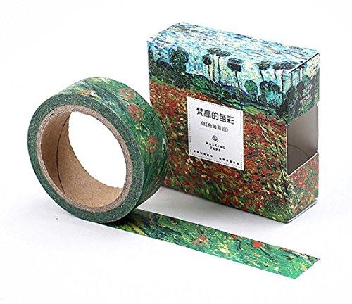 Nastro adesivo washi tape con design ispirato a Van Gogh, edizione limitata G
