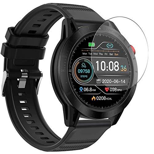 Vaxson 3-Pack Vetro Temperato Pellicola Protettiva, compatibile con Voigoo Qipexeii FT03 1.3' Smartwatch Smart Watch, 9H Screen Protector Film
